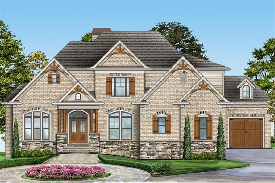 4-Bedroom, 2996 Sq Ft Country Home Plan - 106-1309 - Main Exterior