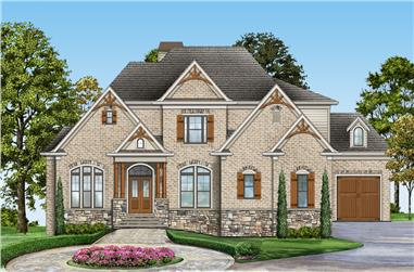 Front elevation of Country home (ThePlanCollection: House Plan #106-1309)