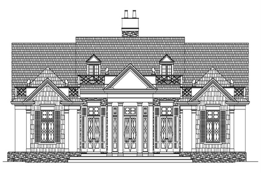 106-1310: Home Plan Front Elevation