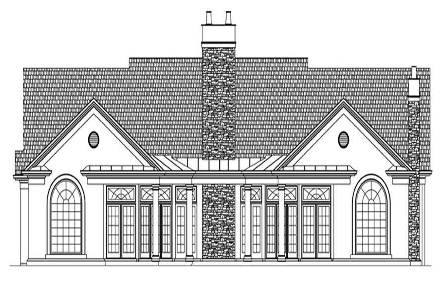 106-1310: Home Plan Rear Elevation