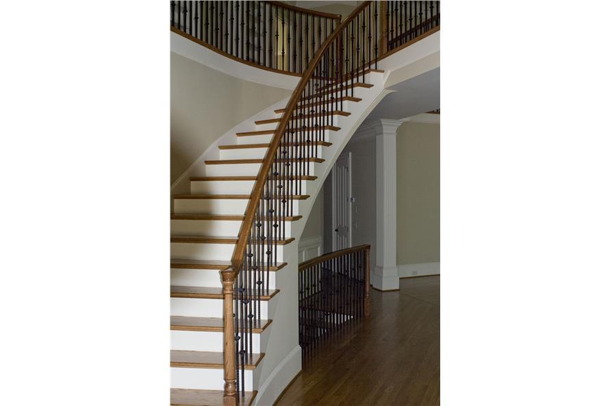 106-1312: Home Interior Photograph-Entry Hall: Staircase