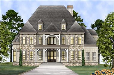 4-Bedroom, 4958 Sq Ft Colonial Home Plan - 106-1312 - Main Exterior