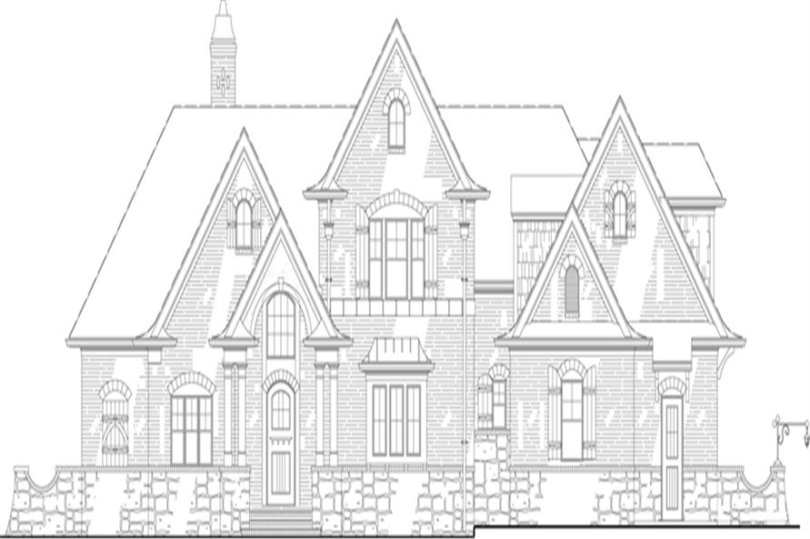 106-1313: Home Plan Front Elevation