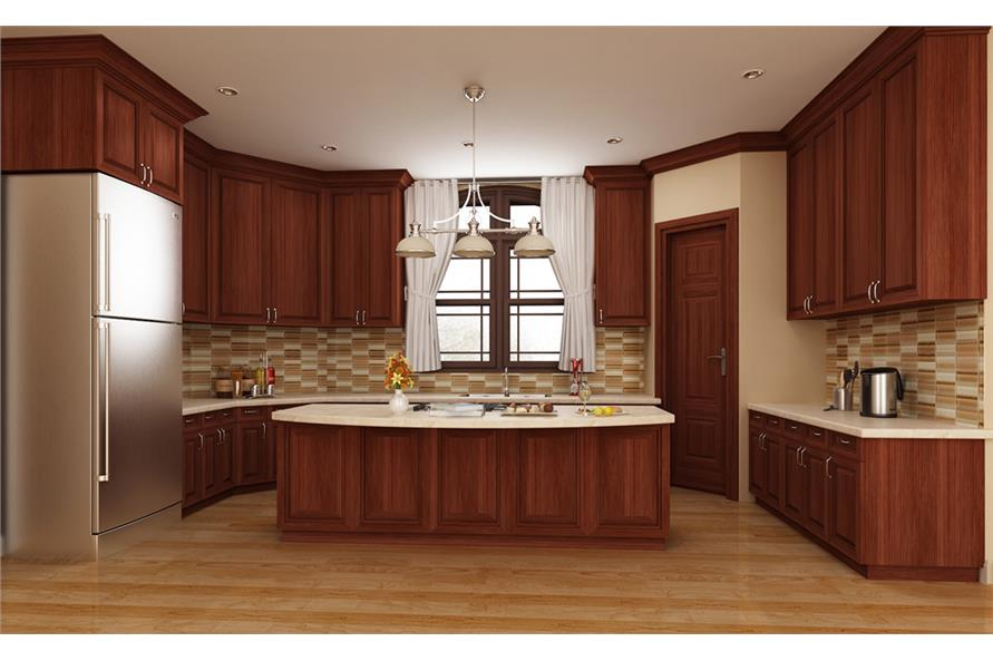106-1313: Home Plan Rendering-Kitchen