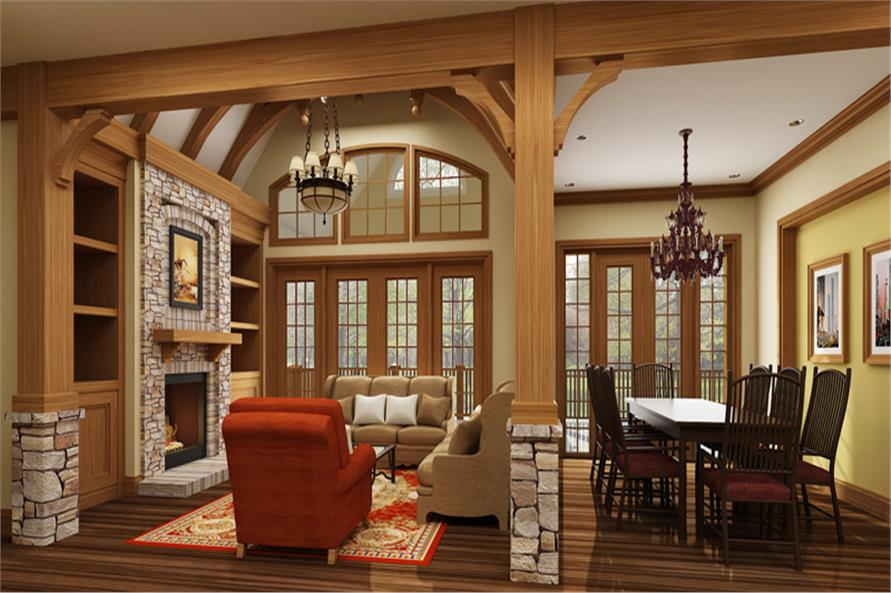 106-1313: Home Plan Rendering-Great Room