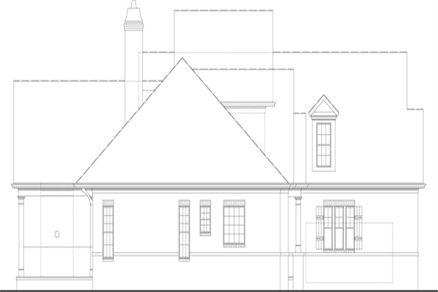 106-1313: Home Plan Left Elevation