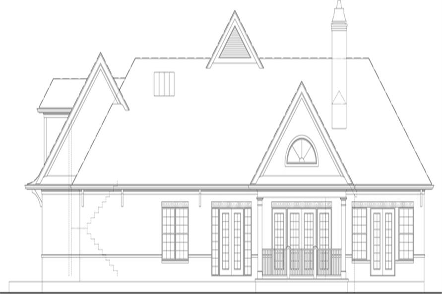 106-1313: Home Plan Right Elevation