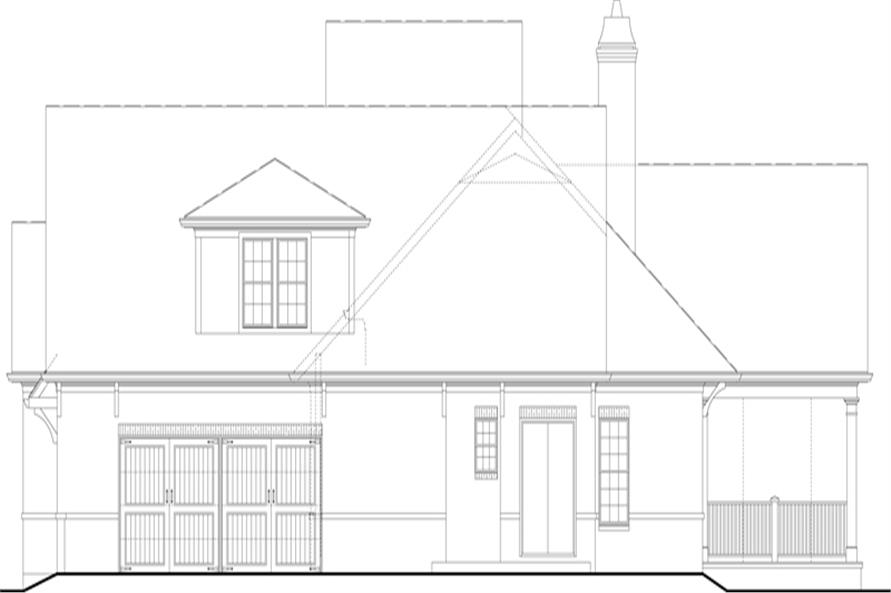 Home Plan Right Elevation of this 3-Bedroom,1999 Sq Ft Plan -106-1313