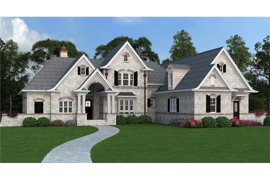 106-1313: Home Plan Rendering-Front View