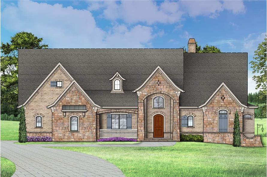 Front View of this 4-Bedroom,2956 Sq Ft Plan -106-1314