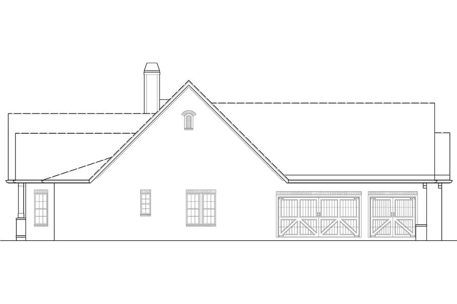Home Plan Left Elevation of this 4-Bedroom,2956 Sq Ft Plan -106-1314