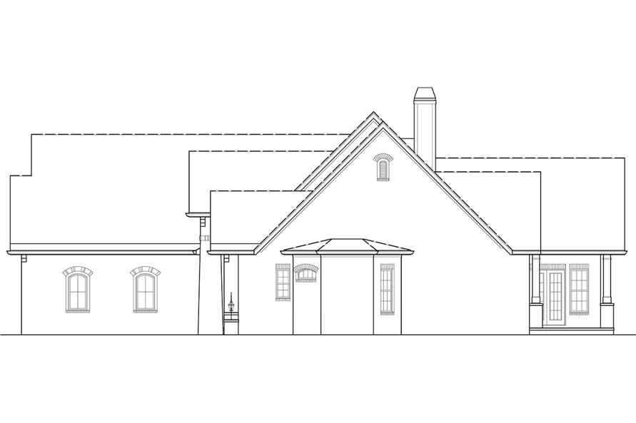 Home Plan Right Elevation of this 4-Bedroom,2956 Sq Ft Plan -106-1314