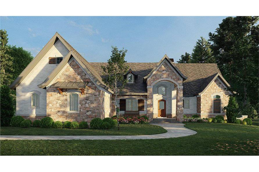 4-Bedroom, 2956 Sq Ft Ranch House Plan - 106-1314 - Front Exterior