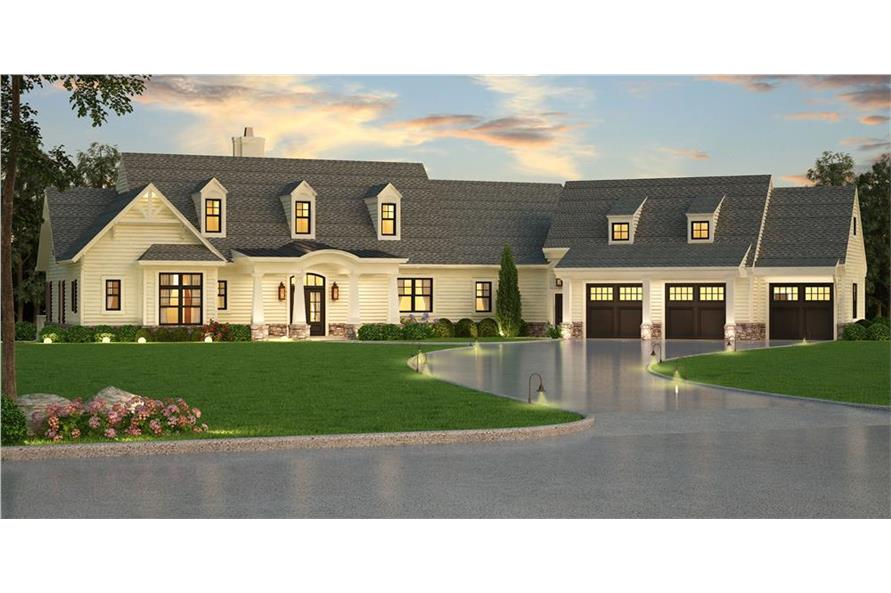 Home Plan Rendering of this 3-Bedroom,2830 Sq Ft Plan -106-1315
