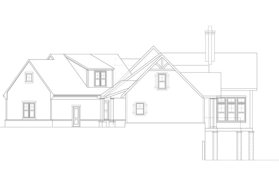 Home Plan Right Elevation of this 3-Bedroom,2830 Sq Ft Plan -106-1315