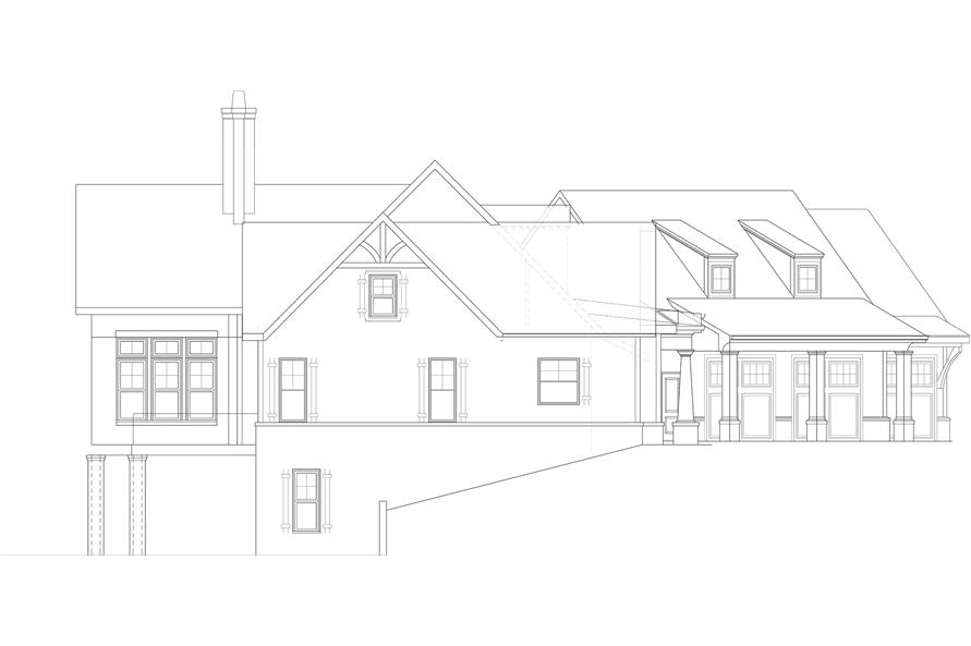 Home Plan Left Elevation of this 3-Bedroom,2830 Sq Ft Plan -106-1315