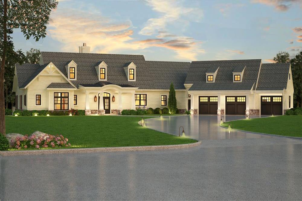 Transitional Cape Cod style home (ThePlanCollection: Plan #106-1315)