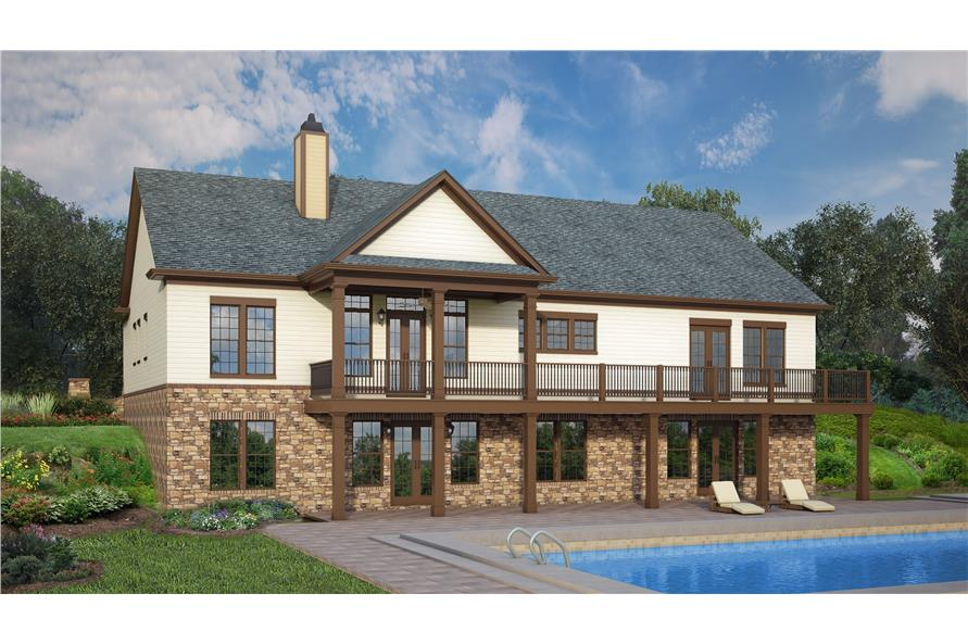 Home Plan Rendering of this 3-Bedroom,2764 Sq Ft Plan -106-1319