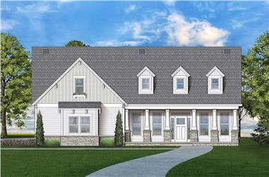 3-Bedroom, 1898 Sq Ft Traditional Home Plan - 106-1320 - Main Exterior