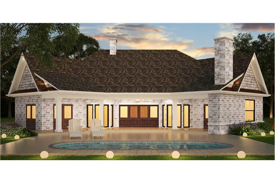 Rear View of this 3-Bedroom,2474 Sq Ft Plan -106-1321