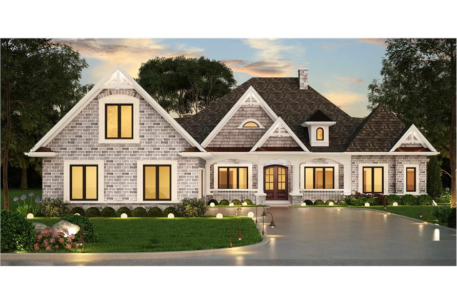 3-Bedroom, 2315 Sq Ft Ranch House Plan - 106-1321 - Front Exterior
