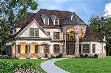 4-Bedroom, 3125 Sq Ft Luxury Home - Plan #106-1323 - Main Exterior
