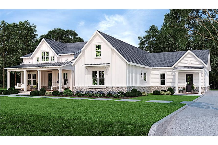 Home Plan Rendering of this 3-Bedroom,2484 Sq Ft Plan -2484