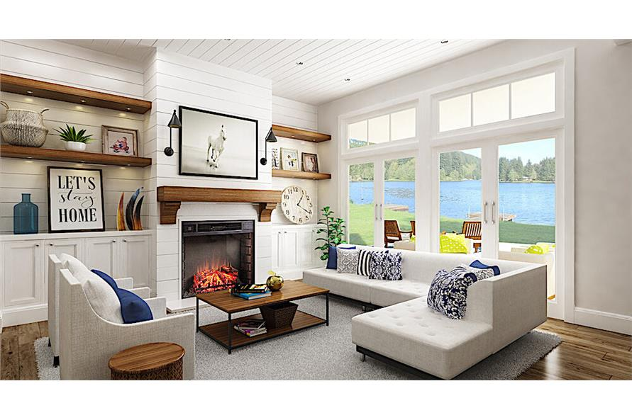 Living Room of this 3-Bedroom,2484 Sq Ft Plan -2484