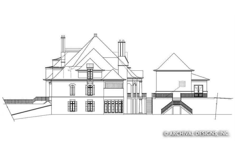 Home Plan Right Elevation of this 7-Bedroom,8628 Sq Ft Plan -106-1325