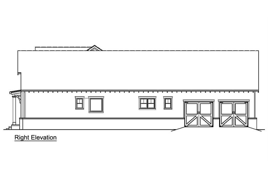 Home Plan Right Elevation of this 3-Bedroom,2484 Sq Ft Plan -106-1326