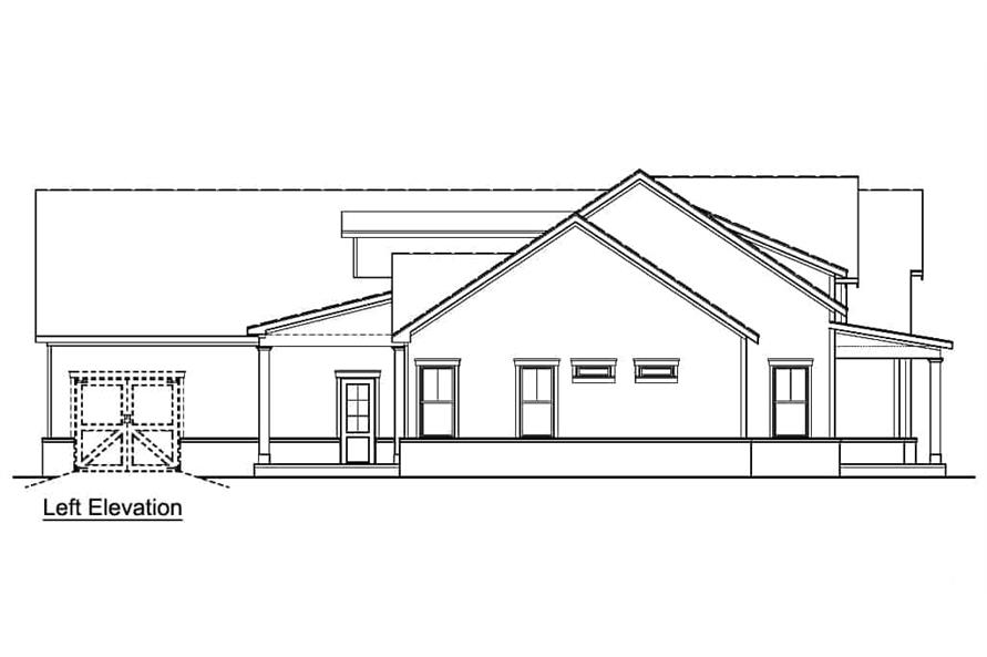 Home Plan Left Elevation of this 3-Bedroom,2484 Sq Ft Plan -106-1326