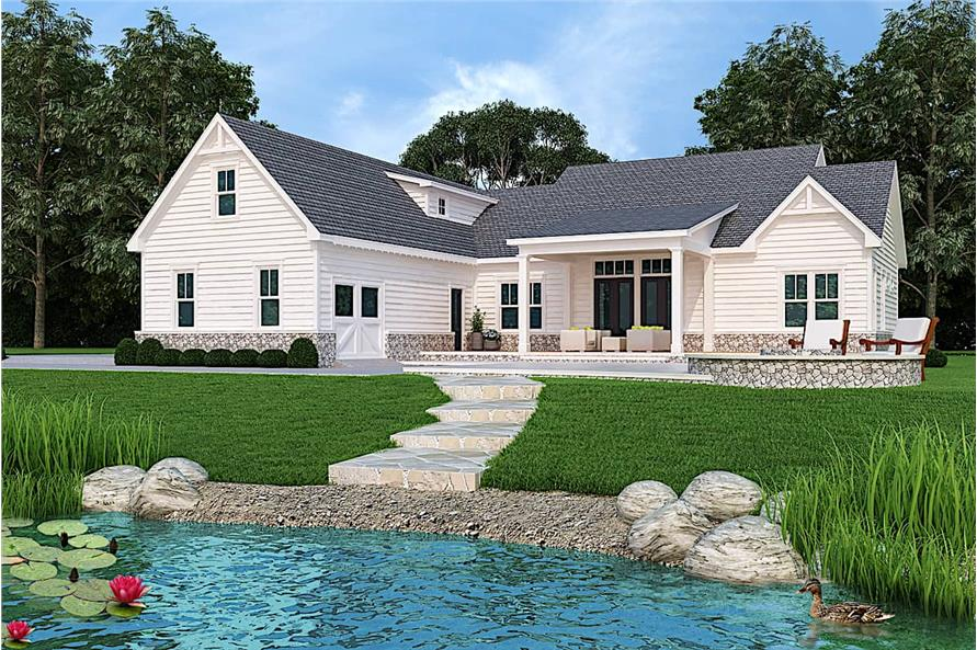 Rear View of this 3-Bedroom,2484 Sq Ft Plan -106-1326