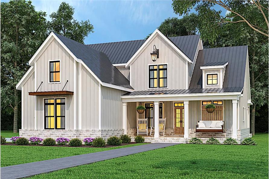 Front View of this 3-Bedroom,1999 Sq Ft Plan -106-1328