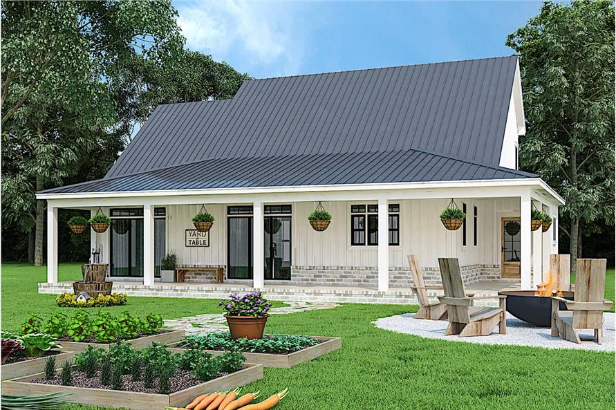 Rear View of this 3-Bedroom,1999 Sq Ft Plan -106-1328