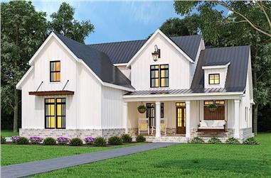 3-Bedroom, 1999 Sq Ft Farmhouse Home - Plan #106-1328 - Main Exterior