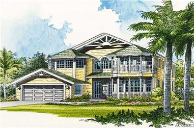 4-Bedroom, 3323 Sq Ft Mediterranean House Plan - 107-1000 - Front Exterior