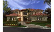 Luxury house plans AA6175-0431 color rendering.