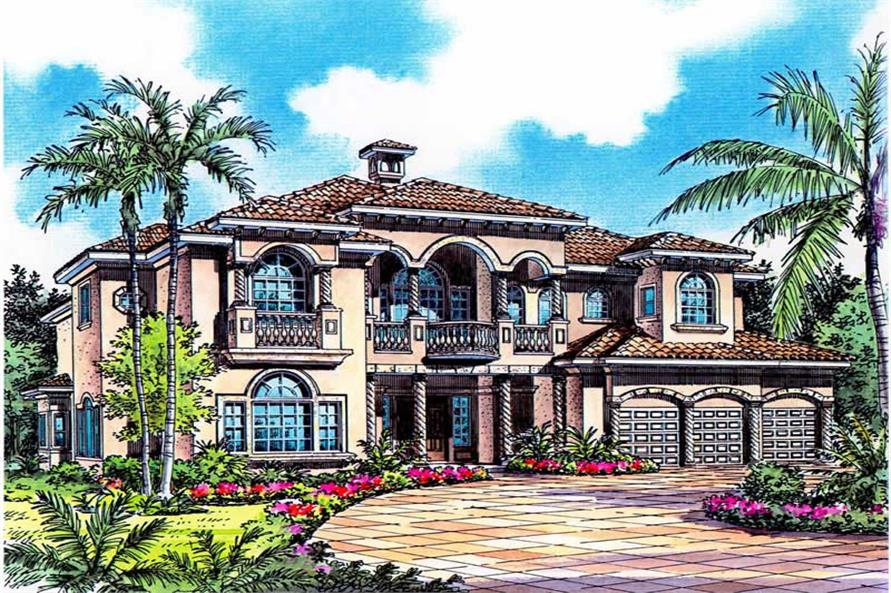 Rendering of this 6-Bedroom,4984 Sq Ft Plan -4984