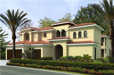 5-Bedroom, 4537 Sq Ft Luxury House Plan - 107-1007 - Front Exterior