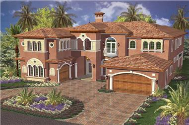 5-Bedroom, 5547 Sq Ft Luxury Home Plan - 107-1009 - Main Exterior