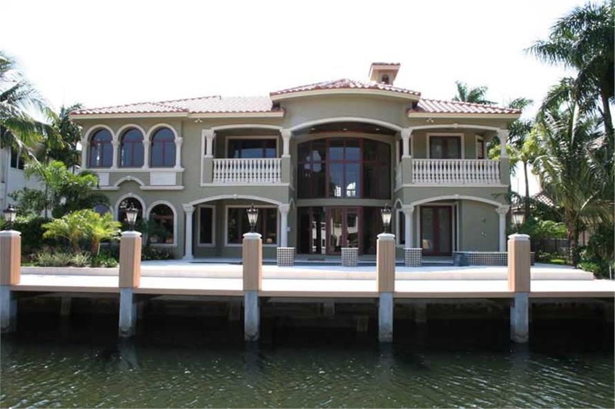 Water View #1 of this 6-Bedroom,6664 Sq Ft Plan -6664