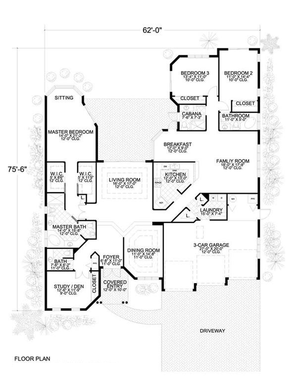 Mediterranean Home With 4 Bdrms 2897 Sq Ft House Plan