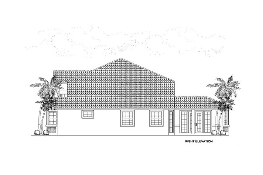 Home Plan Right Elevation of this 4-Bedroom,2861 Sq Ft Plan -107-1018
