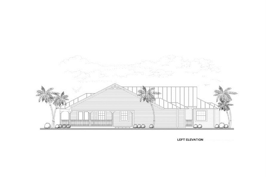 Home Plan Left Elevation of this 4-Bedroom,3276 Sq Ft Plan -107-1019