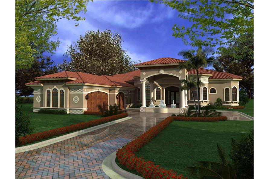 Home Plan Rendering of this 5-Bedroom,6095 Sq Ft Plan -107-1020
