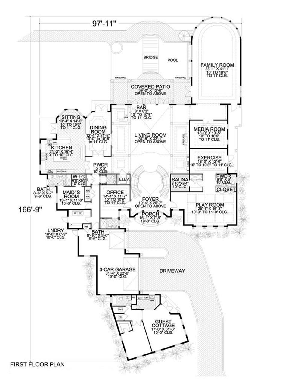 Room Floor Plan Designer Free: 7 Bedrms, 7.5 Baths