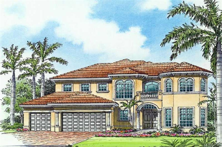 Rendering of this 5-Bedroom,5204 Sq Ft Plan -5204