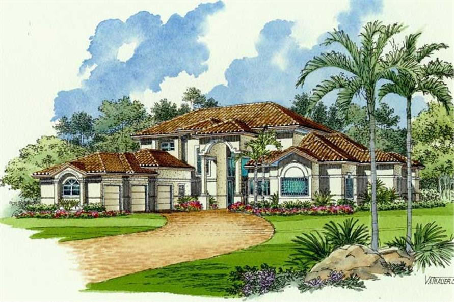 Rendering of this 6-Bedroom,5088 Sq Ft Plan -5088