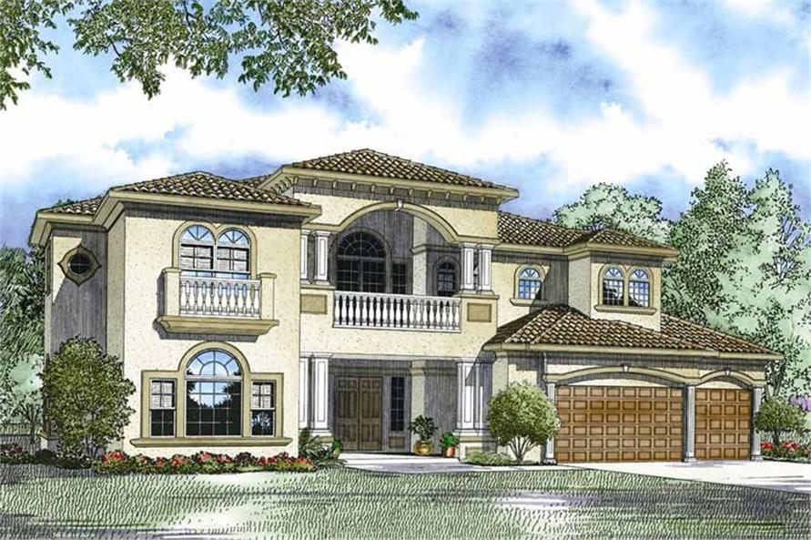 Rendering of this 6-Bedroom,5110 Sq Ft Plan -5110