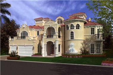 6-Bedroom, 8441 Sq Ft Luxury House Plan - 107-1035 - Front Exterior